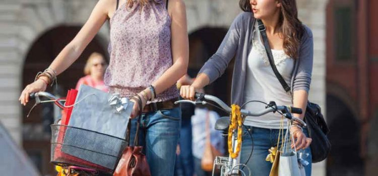 Shopping in bici: fa bene alla salute, fa bene agli affari!
